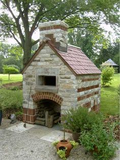 Outdoor Brick Oven/ I'm so good at finding potential projects for the husband :-)