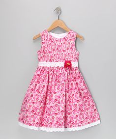 Another great find on #zulily! Pink Floral Lace Dress - Toddler & Girls by Jayne Copeland #zulilyfinds