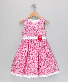 Pink Floral Lace Dress - Toddler  Girls by Jayne Copeland #zulily #zulilyfinds