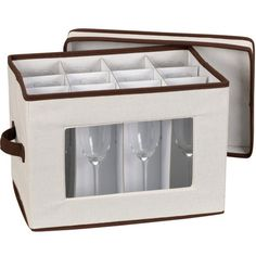 Add the Champagne Flute Storage Box to your household to keep your fancy stemware glasses neatly stored and organized.