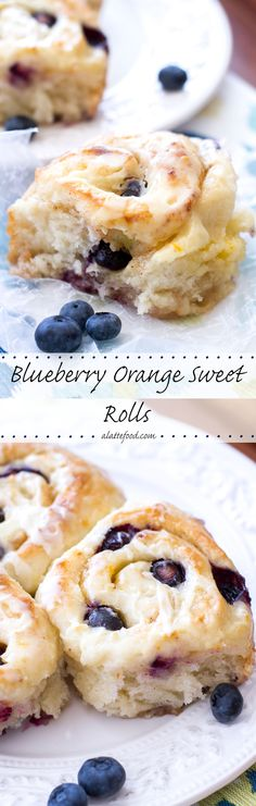 These gooey blueberry orange sweet rolls are so delicious and so easy to put together!   www.alattefood.com