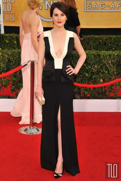 I love that mock-vest thing on the bodice! >> 2014 SAG Awards Red Carpet Rundown – Part 1 | Tom & Lorenzo Fabulous & Opinionated