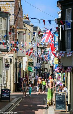 Weymouth, Dorset--- love all the bunting.... see, its not all rain and cold weather!!!