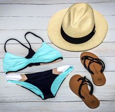 Malvados braided ICON FLORENCE sandals, with a baby blue bikini and a structured light brown hat  #bikini #bathingsuit #malvados #sandals #flipflops #summer #tan #beach #glow #babes #fitness #gym #fashion #love #sunset #water #pool #local #model #swim #beach #ocean #fun #colour #lspace #maaji #vitamina #friends #selfie #hot #weather #sand #shells #pineapple #sunglasses #flowers #inspo #happy #young #motivation #fit #photoshoot #flats #swimwear