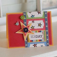 It's Your Day Card by Betsy Veldman for Papertrey Ink (April 2012)