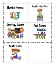Daily 5 Math Labels