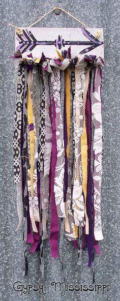 Boho Gypsy Hippie Arrow Painting Fabric by GypsyMississippi