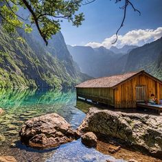 An abandoned boat house in Bavaria's Berchtesgaden National Park in Obersee, Germany, probably one the most photographed sites in this region. | By @chris036 #AllAbandoned