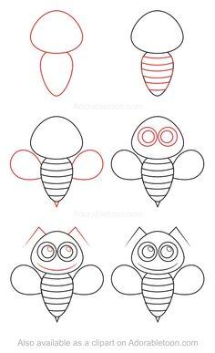 Comment dessiner une abeille
