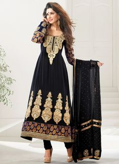 #Mystic #Blue Viscose Georgette #Anarkali Suit.