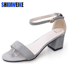 33c027eda6 US $10.97 39% OFF|SHIDIWEIKE Ltarta Summer Women Sandals Open Toe Flip  Flops Women's Sandles Thick Heel Women Shoes Korean Style Gladiator Shoes  -in Middle ...