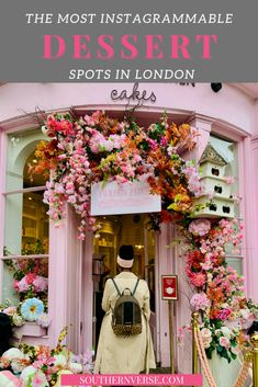 Tips on where to find London's most prettiest desserts. From London cafe aesthetics at Peggy Porschen to the adorable cafe of Saint Aymes. Click through to see why these dessert spots are the best. And see all aesthetically pleasing photos. #desserts #londonaesthetic #londoncafe #bestdesserts Travel Sights, Europe Travel Tips, Packing Tips For Travel, Travel Destinations, Day Trips From London, Things To Do In London, London Cafe, London Guide, London Instagram