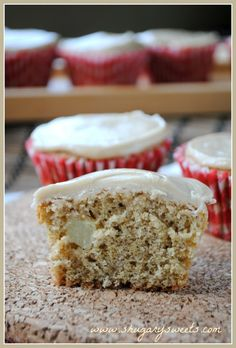 Apple Spice Muffins with Caramel Glaze. Delicious and Easy to make! Freezes well.
