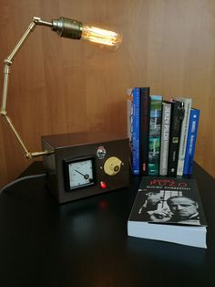 Bedside Lamps – Old Voltomater Lamp - RemakeGallery on DaWanda