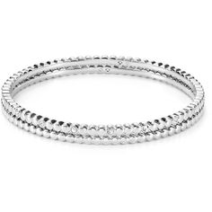 Nadri Bangles, Set of 2 - 100% Bloomingdale's Exclusive ($105) ❤ liked on Polyvore featuring jewelry, bracelets, silver, nadri, nadri bangle, stackers jewelry, sparkle jewelry and hinged bangle