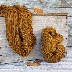 Harvest Wool  100% merino dyed from marigolds