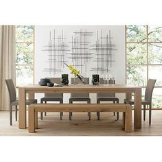 """Big Sur Natural 90.5"""" Dining Table in Dining Tables 