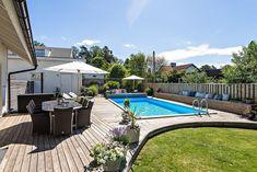 Polovägen 9, Ella gård, Täby — Bjurfors Outdoor Living Areas, Pool Houses, Garden Inspiration, Exterior, Outdoor Decor, Pool Ideas, Tattos, Outdoors, Home Decor