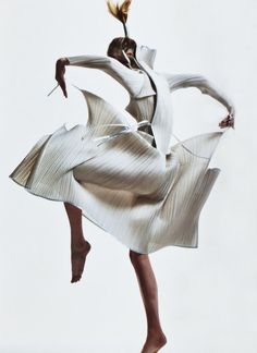 Tales of the Orient Photo of Raquel Zimmermann in Issey Miyake, by David Sims for V