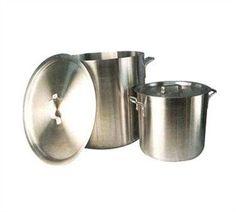 """32_Qt_Aluminum_Stock_Pot_6.0_mm,_13.8""""_x_12.6""""_(Dia_x_Depth)_103468"""