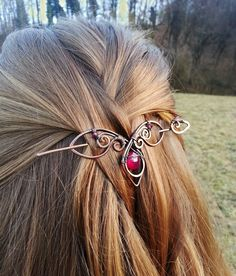 Metal hair slide Hair holder Copper hair pin Rustic copper Boho hair barrette Copper hair accessories Shawl pin Women gift Women accessories by GingeryStones on Etsy https://www.etsy.com/listing/266380416/metal-hair-slide-hair-holder-copper-hair