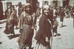 Lublin, Poland, Gypsy women in a ghetto street.