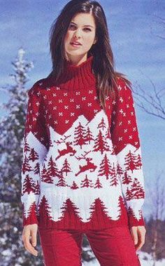 How to knit jacquard patterns? Double Knitting Patterns, Knitting Paterns, Christmas Knitting Patterns, Christmas Jumpers, Christmas Sweaters, Christmas Day Outfit, Herren Outfit, Pulls, Knitwear