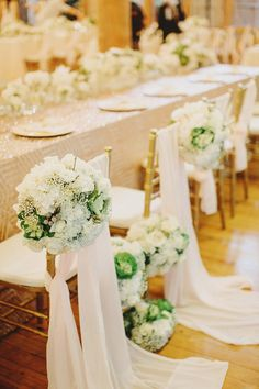 White and pink Tiffany chair decor for the bride and groom // Rustic Luxe Wedding at Enderong Resort, Malaysia: Jason + Kim Wedding Flower Arrangements, Flower Centerpieces, Flower Bouquet Wedding, Bridesmaid Bouquet, Wedding Bridesmaids, Luxe Wedding, Floral Wedding, Rustic Wedding, Wedding Ideas