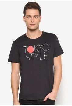 Tokyo Style Graphic Tee from UniqTee in black_1