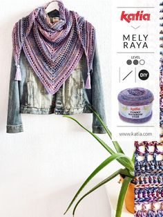Gehäkeltes Dreieckstuch aus Funny Rainbow Star von Mely Raya - Lilly is Love Diy Crafts Crochet, Crochet Projects, Rainbow Star, Triangle Scarf, Dress Tutorials, Crochet Accessories, Free Crochet, Free Pattern, Crochet Patterns