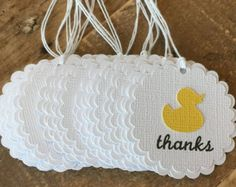 Rubber Duck Baby shower thank you tags, Yellow baby shower favor tags, Rubber ducky baby shower gift tag, duck thank you favor tags - Site Today Ducky Baby Showers, Baby Shower Duck, Rubber Ducky Baby Shower, Baby Shower Yellow, Baby Shower Thank You, Baby Yellow, Baby Shower Favors, Baby Shower Gifts, Rubber Ducky Birthday