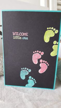 Baby Set, Baby Shower Cards Handmade, Baby Girl Cards, Welcome Baby, Baby Kind, Pretty Cards, Baby Crafts, Stamping Up, Kids Cards