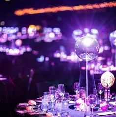 Rotating Disco Ball Centerpieces By The Party Girl