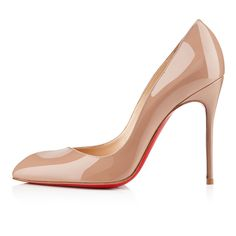 corneille 100mm nude patent leather