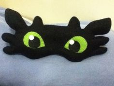 Toothless Sleeping Mask #howto #tutorial. For Danny!