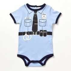 Infant When I Grow UP Policeman Creeper - Baby Essentials Bubble Dresses & Sets - Events