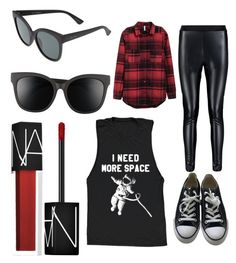 Dope Chill by krista-hollier on Polyvore featuring polyvore, fashion, style, Converse, Quay, NARS Cosmetics and clothing