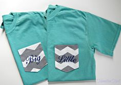 Sorority Monogrammed Pocket T Shirt by HamiltonHall on Etsy, $25.00
