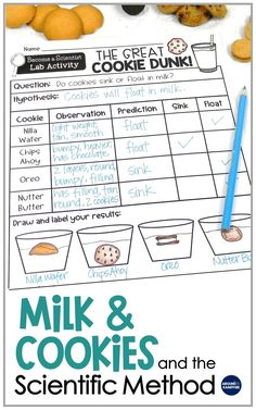 6 Worksheets Sink or Float Milk & Cookies and the Scientific Method √ Worksheets Sink or Float . 6 Worksheets Sink or Float . Milk & Cookies and the Scientific Method in Kindergarteen Worksheets Scientific Method Experiments, Elementary Science Experiments, Kid Science, Preschool Science, Teaching Science, Elementary Science Fair Projects, Simple Science Fair Projects, Science Fair Projects Kindergarten, 3rd Grade Activities