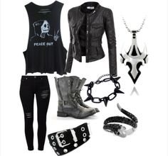 Here's one of the outfits I made on polyvore