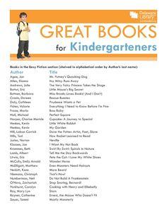Great Books for Kindergarteners  www.delawarelibrary.org