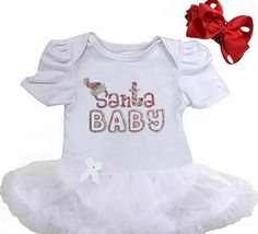 "SANTA BABY TUTU SET Price: $24.99, Free Shipping  Size: S (NB-3M) Chest 14""-16"" Length 13"" Size: M (3M-6M) Chest 15""-17"" Length 14"" Size: L (6M-12M) Chest 16""-18"" Length 15""  Size: XL (12M-18M) Chest 17""-19"" Length 16"" click picture to purchase"