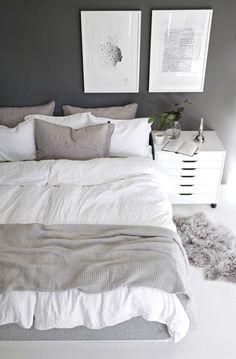 47 Inspiring Modern Scandinavian Bedroom Design And Decoration Ideas Winter Bedroom Decor, Home Decor Bedroom, Bedroom Ideas, Bedroom Photos, Bedroom Designs, Bedroom Furniture, Bedroom Inspo, Bedroom Inspiration, Bed Sets