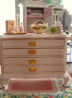 #miniature #shabby dresser
