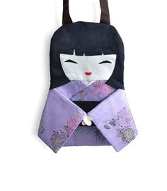 Bag Doll Japanese collecting doll in Lilac by NinuMiluBagDolls