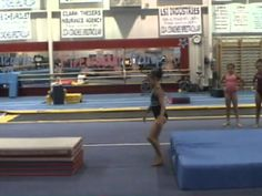 Courbette/snap down best tumbling drill