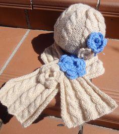 Gorro infantil con bufanda de niña. por BolsosBags en Etsy, \u20ac32.00