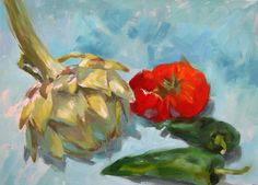 Artichokes and peppers, oil