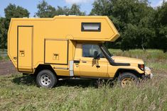 my yellow van Toyota Motorhome, Toyota Camper, Toyota Lc, Toyota Trucks, Rc Trucks, Pickup Camper, Camper Trailers, Camper Van, Off Road Camping