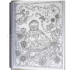 Adult-Coloring-Designs-Book-Art-Fanciful-Fashion-Stress-Relieving-Patterns-New